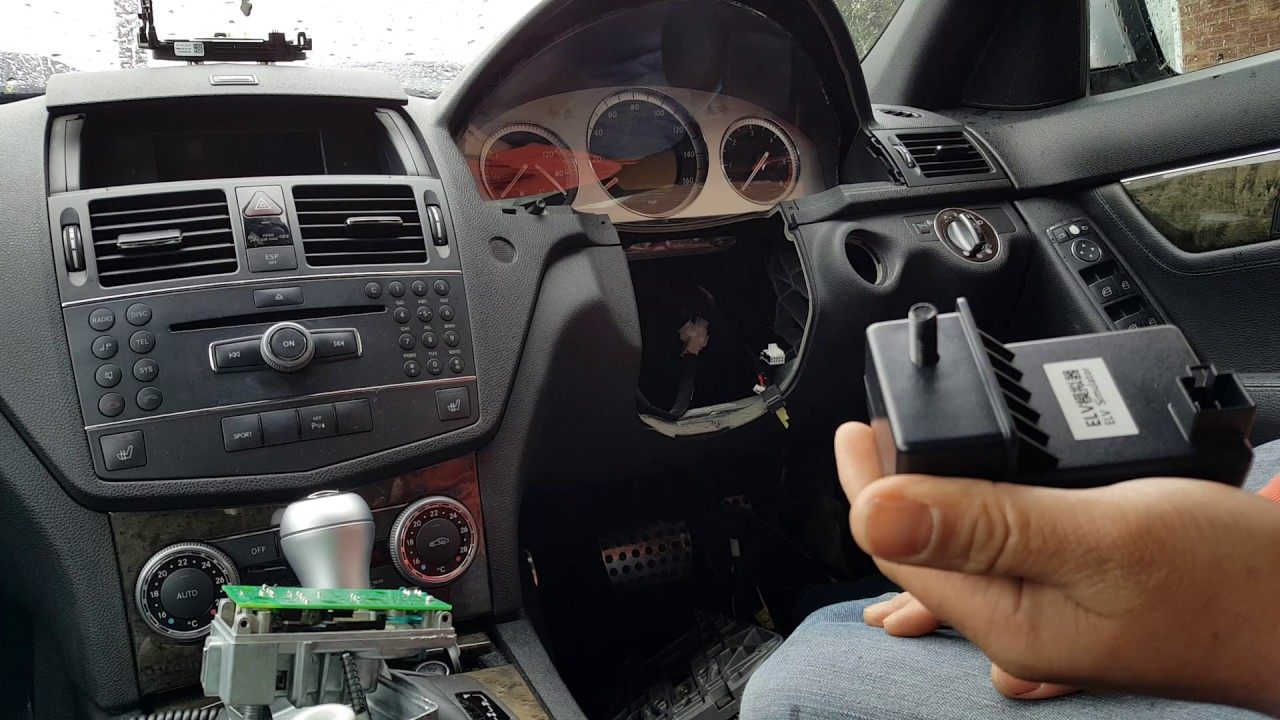 mercedes c class w204 steering lock esl fault no ignition car not starting how to repair youtube [ 1280 x 720 Pixel ]