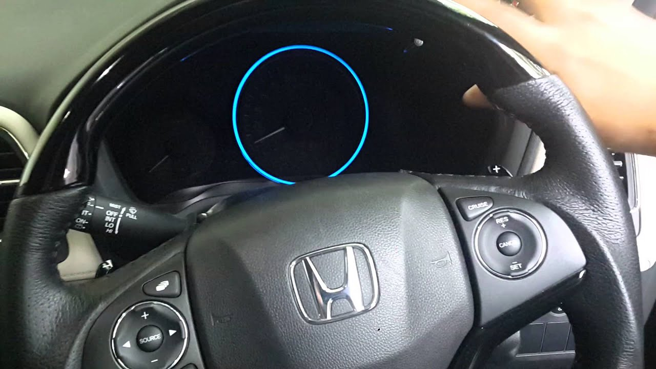 Changing Honda Hrv S Speedometer Ring Color Youtube