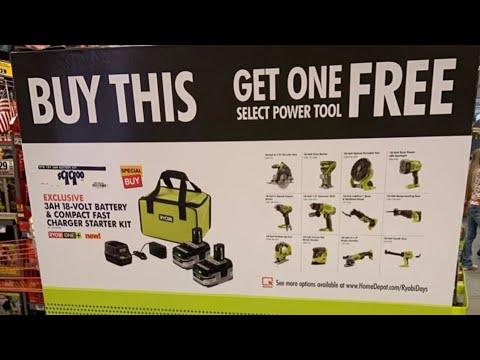 Home Depot Live   Overview Ryobi Days Milwaukee DeWALT Deals !!