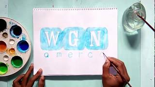 How to draw the WGN America tv channel logo