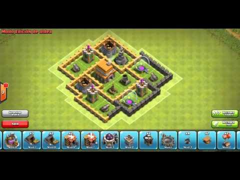 Clash of Clans! Aldea Defensiva Ayuntamiento 5 - YouTube