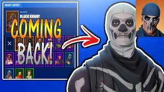 Skull Trooper Skin COMING BACK! + New Leaked Skins Coming Soon To Fortnite Battle Royale