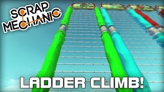 super tall multiplayer ladder climbing challenge scrap mechanic 273