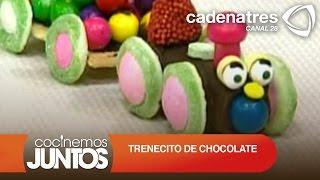 ¿Cómo hacer un trenecito de chocolate? / Postres para el día del niño