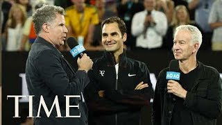 Ron Burgundy Just Stole The Show At The Australian Open By Trolling Roger Federer | TIME