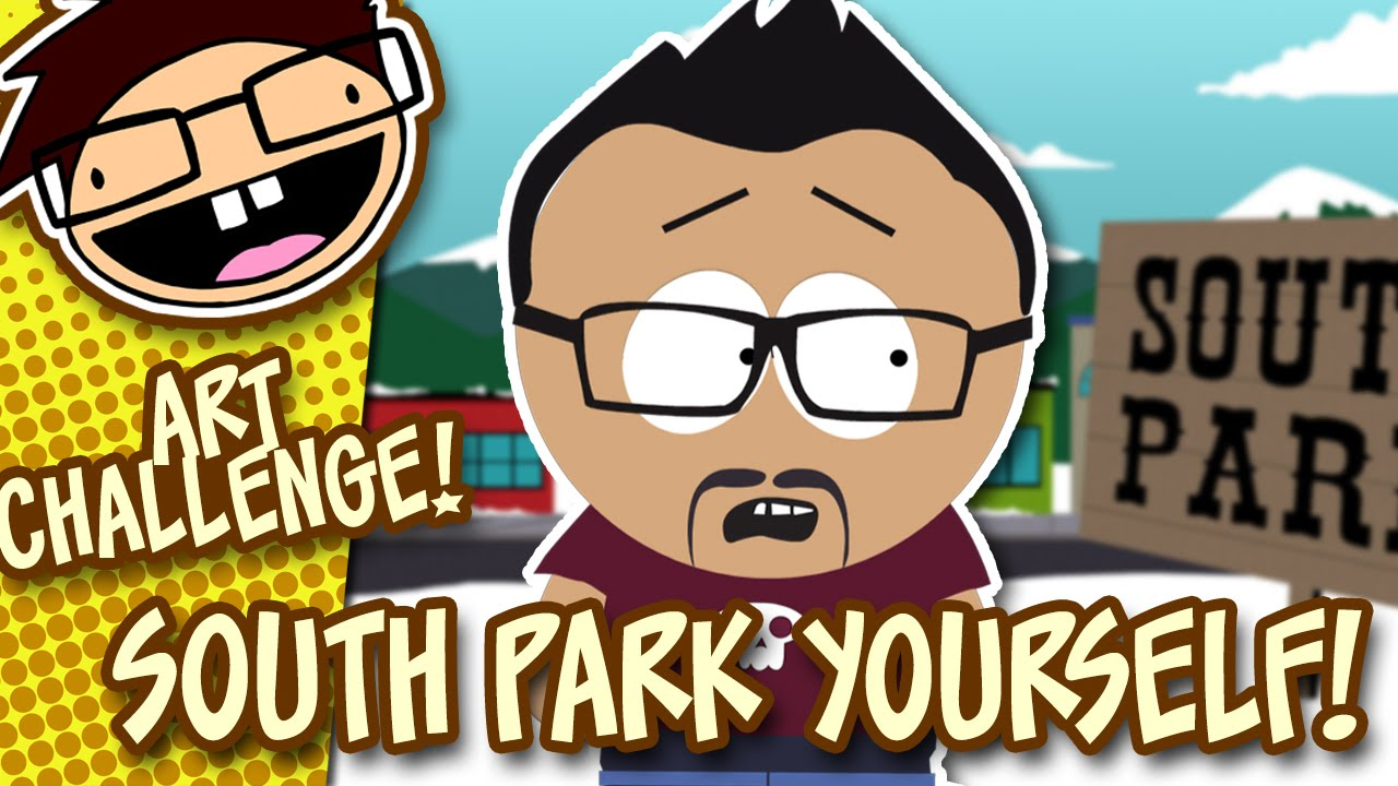 Turn Yourself Into A South Park Character Art Challenge Youtube