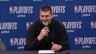 Nikola Jokic Postgame Interview - Game 5 | Blazers vs Nuggets | 2019 NBA Playoffs