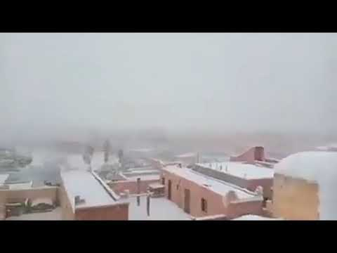 Something happened Southern Morocco Under Snow for First Time