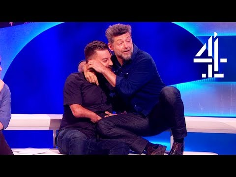 Andy Serkis Gets Close With Alex When ApeActing   The Last Leg