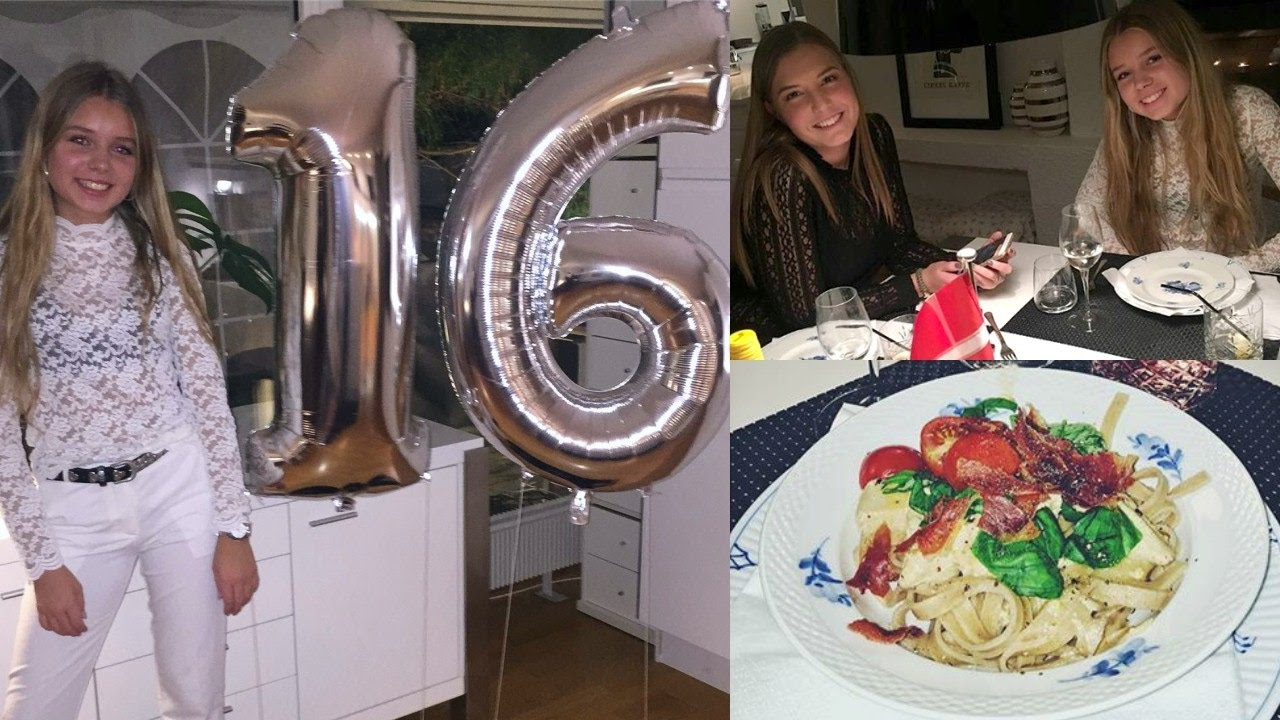 9bd7a2c3a7f3 Min 16 års fødselsdagsfest - vlog - YouTube