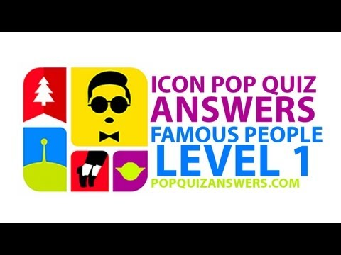 Icon Pop Quiz Answers (Famous People) Level 1 for iPhone, iPad, Android