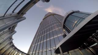 Burj Khalifa first view looking GoPro