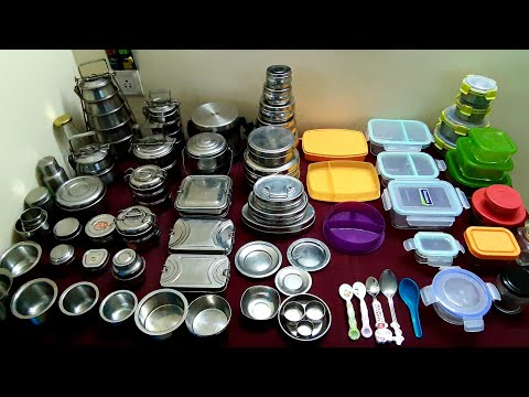 Lunch Boxes..Stainless Steel, Glass Boxes, Tupperware /Link... Description Box 🌞👍