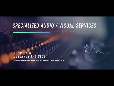 Professional audio and visual services