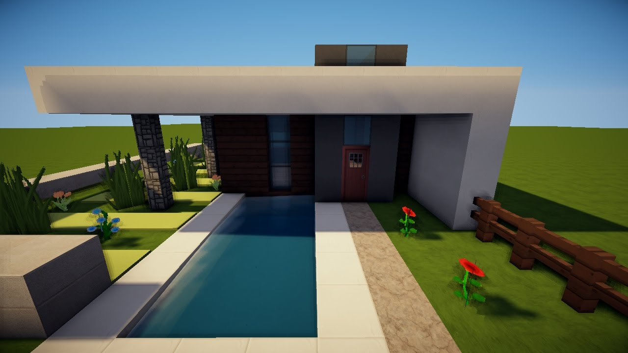 Minecraft modernes kleines haus bauen tutorial german for Minecraft haus bauen modern deutsch