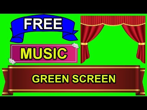 Beautiful Opening Theater Curtain Green Screen