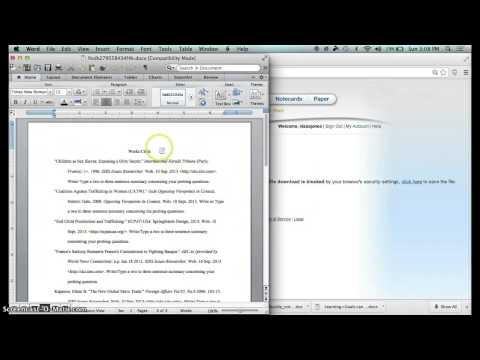 How to Make Source Cards into a Working Bibliography