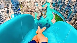 THE HIGHEST WATER SLIDES IN THE WORLD - Insane Water Slides 😱