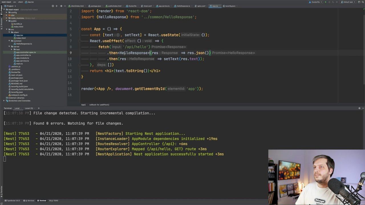 Создаём монорепозиторий: сервер на nest + клиент на React