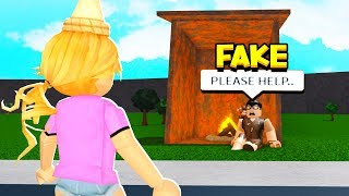 My Sister Thought I Was Homeless.. So THIS Is What She Did! (Roblox)