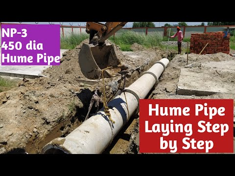 Hume Pipe Laying Step by Step II NP -3, 450 dia Pipe Laying Procedure.