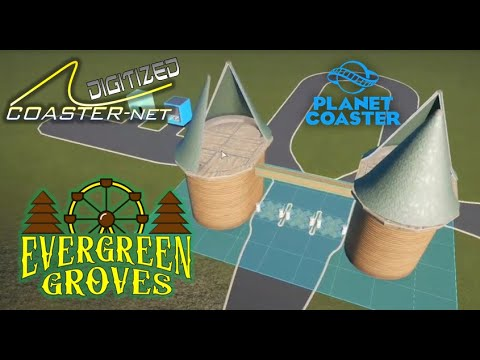 Evergreen Groves Part 2 Facilities & Entrance Gate - COASTER-net Plays Planet Coaster - COASTER-net.com