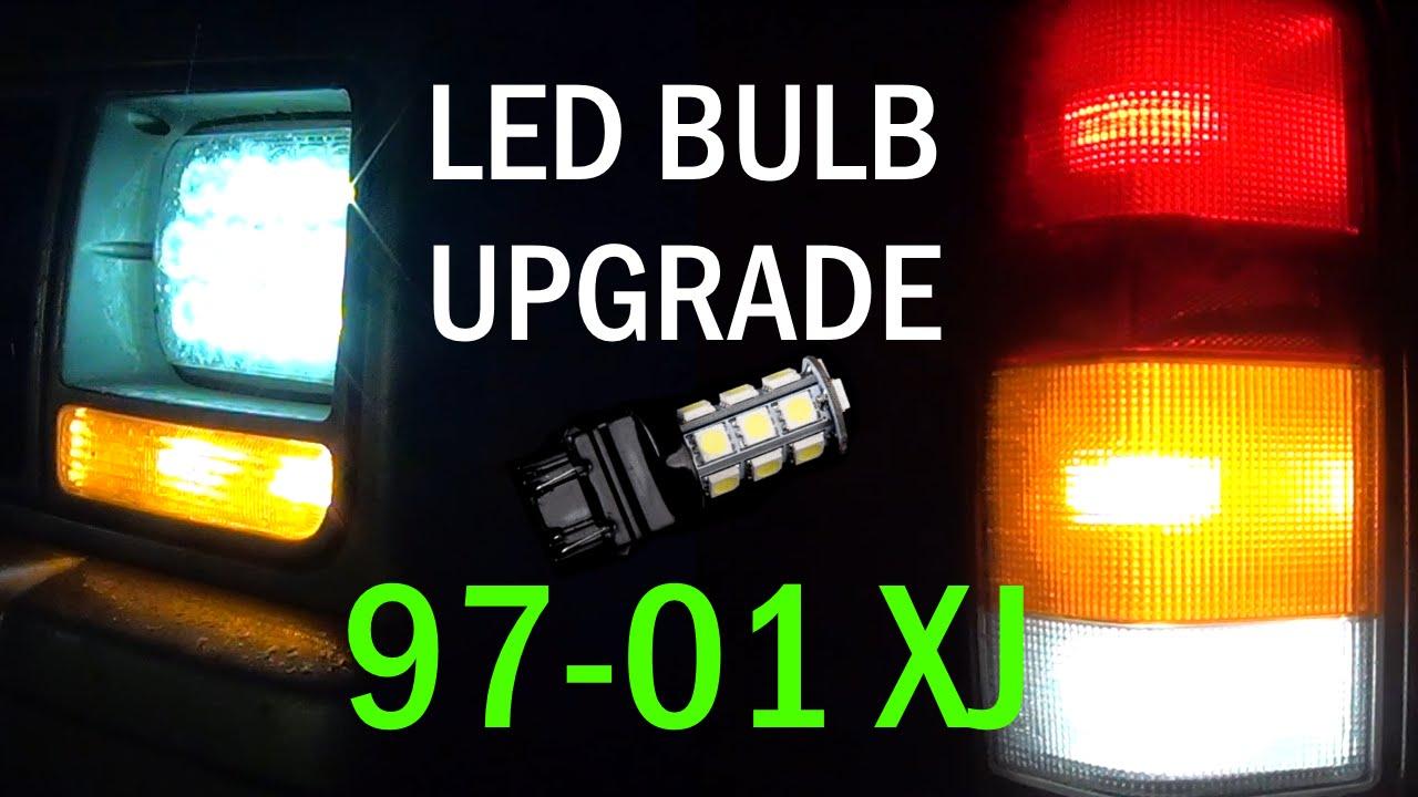 Jeep Cherokee Xj >> Jeep Cherokee XJ 97-01 Complete LED Bulb Retrofit - YouTube