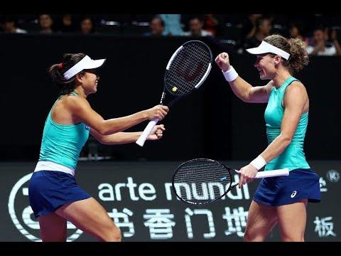 Siniakova/Krejcikova Vs. Stosur/Zhang   2019 WTA Finals   WTA Highlights