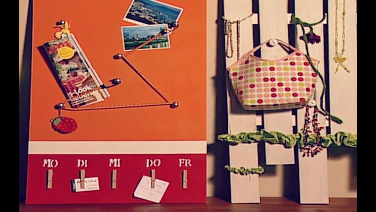 Pinnwand einfach und schnell basteln deko tipp youtube for Pinnwand gestalten