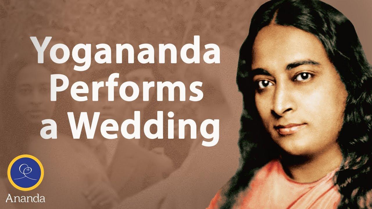 Yogananda Performs Wedding Ceremony