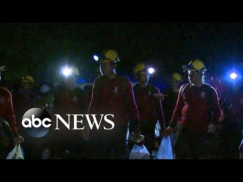 4 boys rescued from flooded cave in Thailand