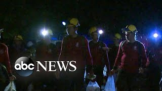 4 boys rescued from flooded cave in Thailand thumbnail