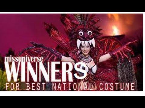 Best National Costume Winners - Miss Universe (1962- 2014)