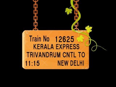 Train no 12625 TRAIN NAME KERALA EXPRESSTRIVANDRUM CNTLVARKALASIVAGIRIKOLLAM JN