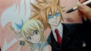 Speed Drawing - Lucy and Leo (Fairy Tail)