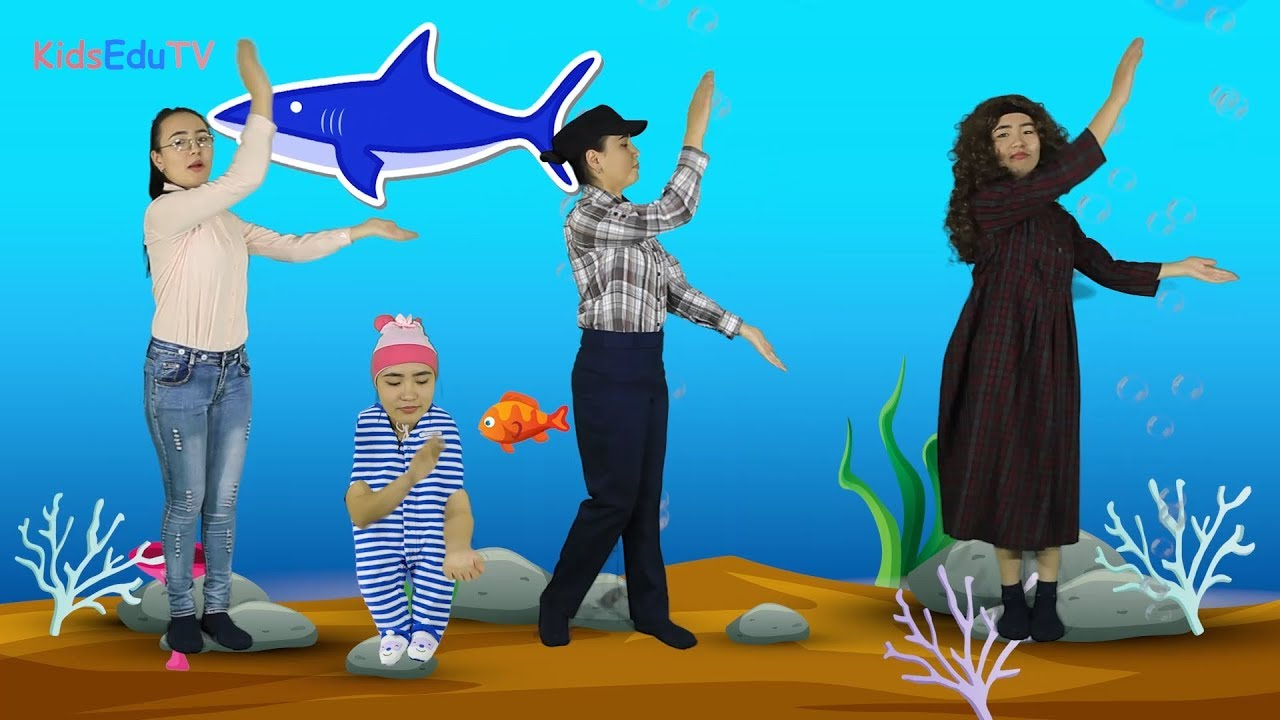 Baby Shark Song and Dance, Kids Songs and Nursery Rhymes, Sing and Dance,  Animals Songs