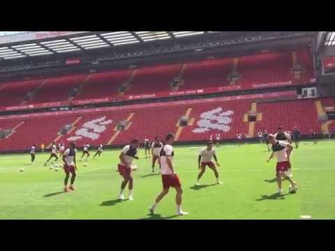 Liverpool training session at Anfield ahead of UCL Final | HaytersTV