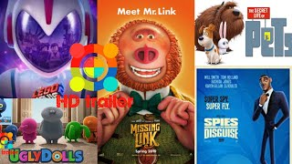 TOP 5 UPCOMING ANIMATION MOVIES-2019|OFFICIAL MOVIE TRAILERS