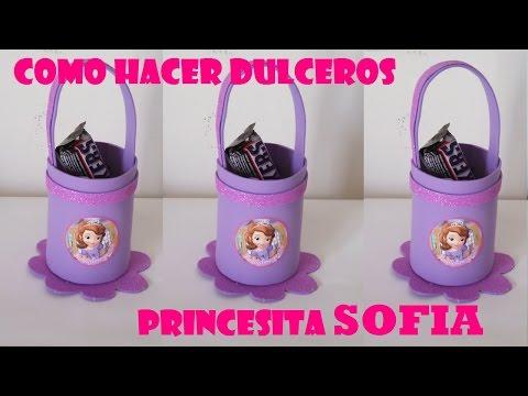 COMO HACER DULCEROS DE FOAMI PRINCESITA SOFIA - YouTube