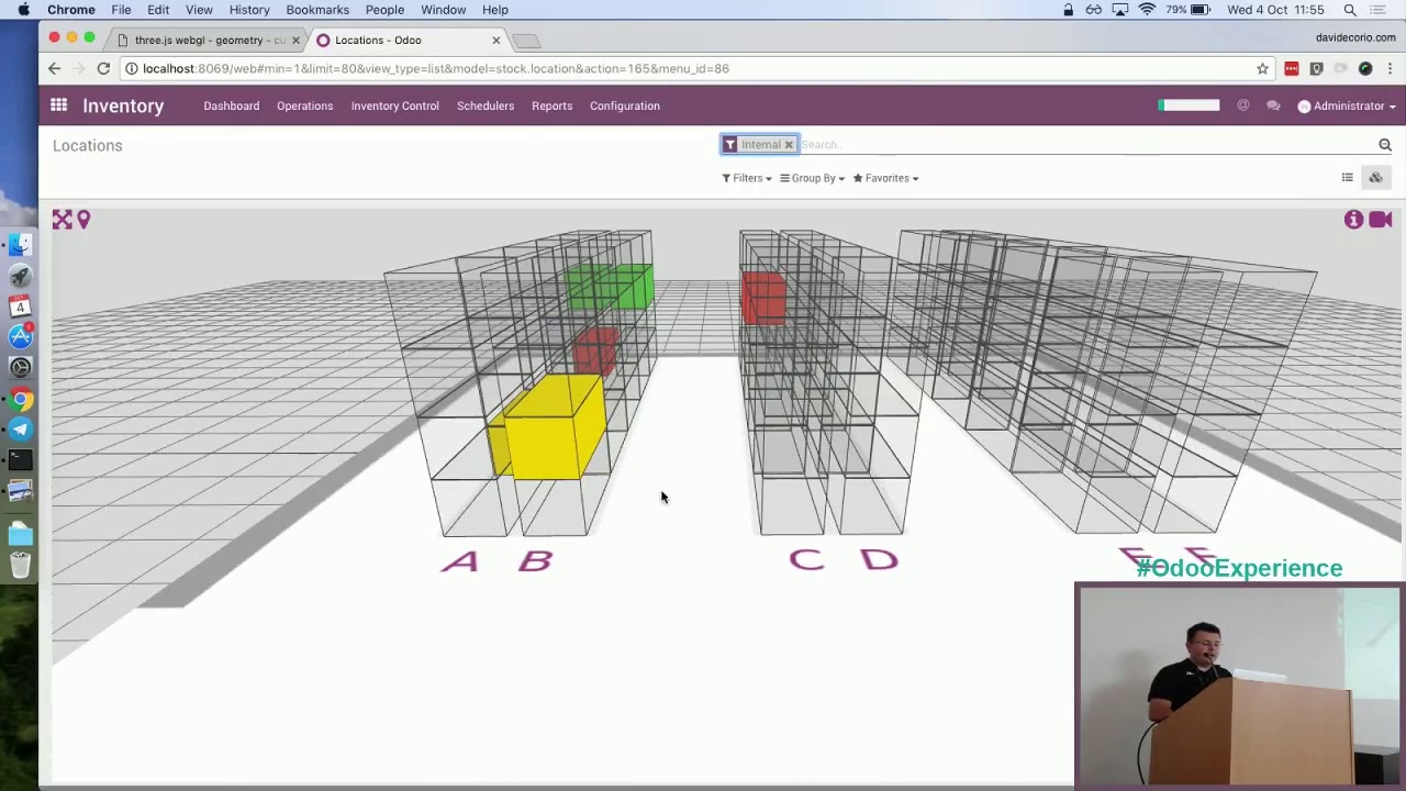 Partner Talk: Visualize Your Warehouse Locations at a Glance: Back to a 3D  World - Odoo Experience