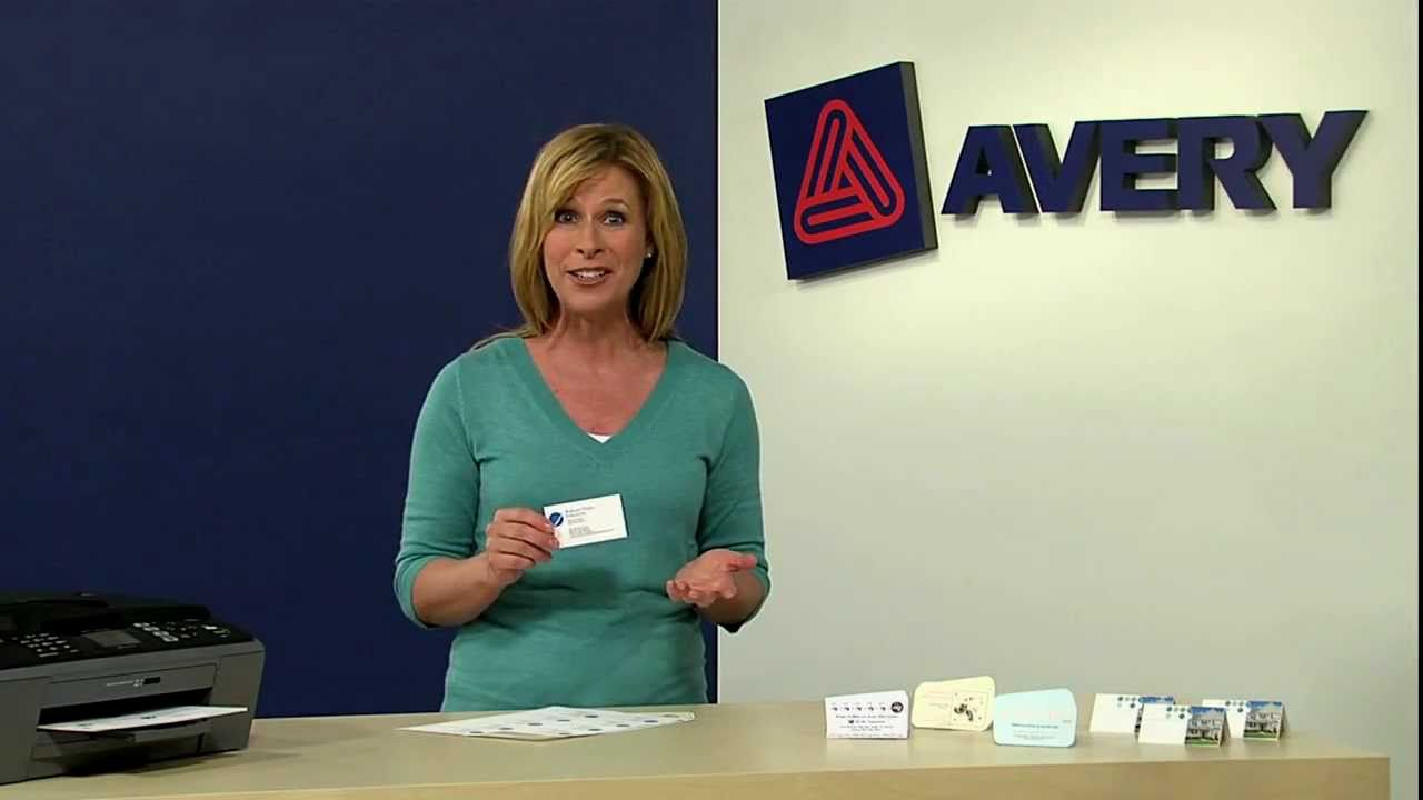 Build your brand with avery clean edge business cards youtube colourmoves