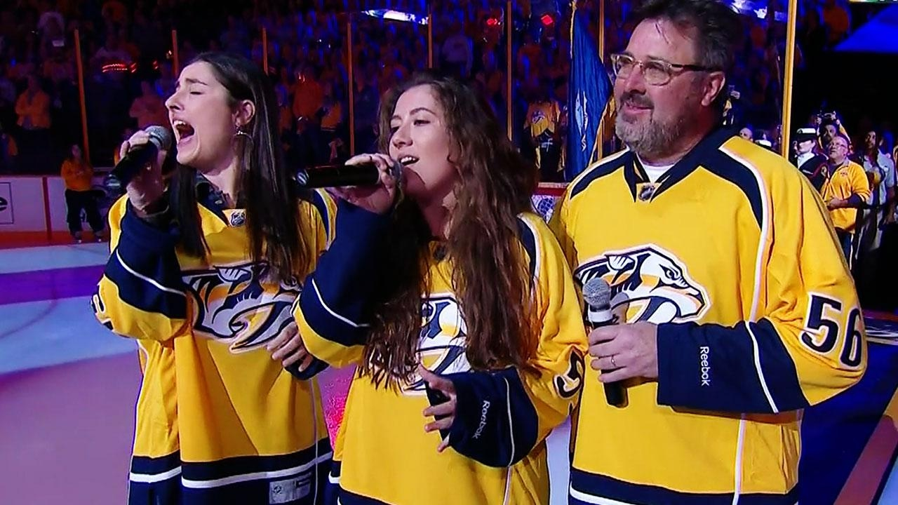 Nashville Hyped Up As Vince Gill His Daughters Sing National