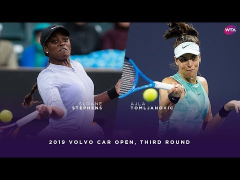 Sloane Stephens vs. Ajla Tomljanovic | 2019 Volvo Car Open Third Round | WTA Highlights
