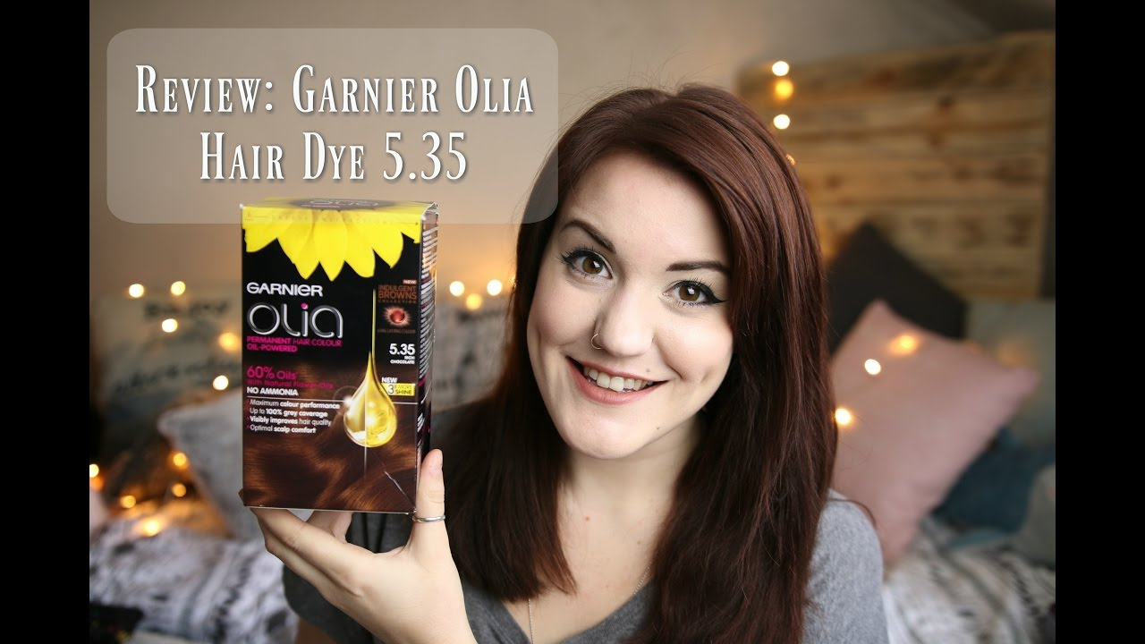 Garnier Olia Hair Dye 5 35 Rich Chocolate Review Youtube