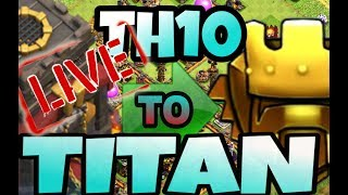 TH10 LIVE WAR ATTCKS AND BASE VISITS | Clash of Clans..