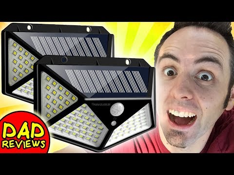BEST SOLAR OUTDOOR SECURITY LIGHTS? | IC iClover Solar Lights Outdoor 100 LED Review