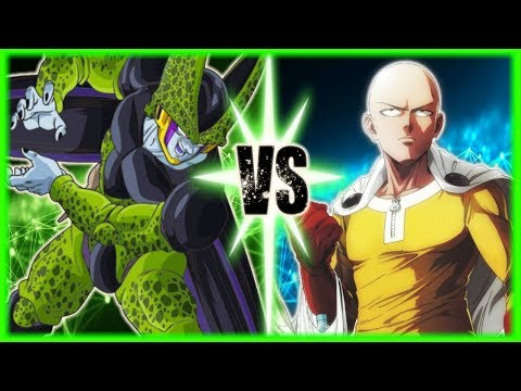 Perfect Cell Vs Saitama (One Punch Man)