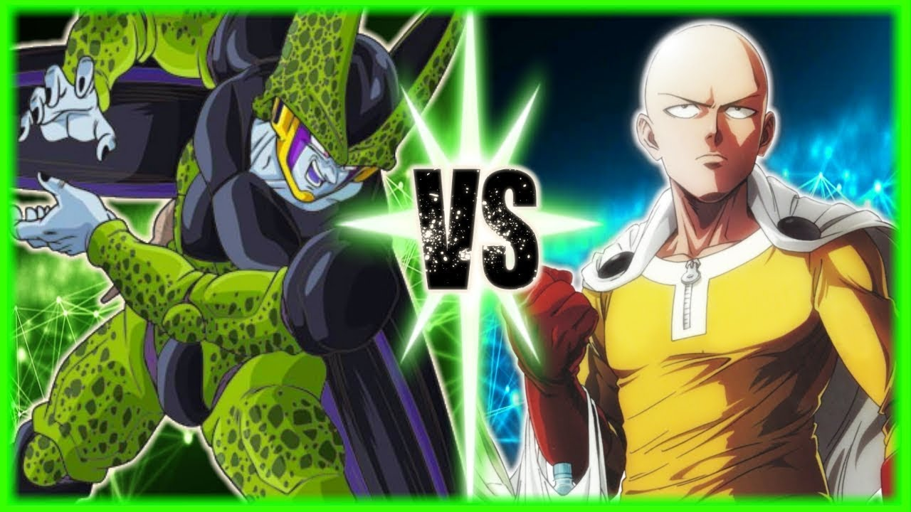 perfect-cell-vs-saitama-one-punch-man