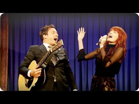 "Thumbnail: Audience Suggestion Box: Jimmy Fallon & Florence Welch Sing ""Balls In Your Mouth"""