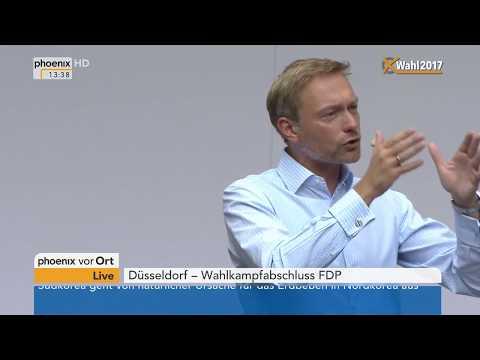Wahlkampfabschluss der FDP: Rede von Christian Lindner vom 23.09.2017
